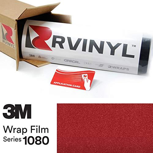 3M 1080 G203 Gloss RED Metallic 5ft x 2ft W/Application Card Vinyl Vehicle Car Wrap Film Sheet Roll