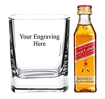 3081696d2041b Personalised Engraved 8 oz Crystal Square glass
