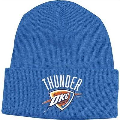 adidas Oklahoma City Thunder Blue Beanie Hat - NBA OKC Cuffed Knit Toque Cap (Oklahoma City Thunder Knit Hat)