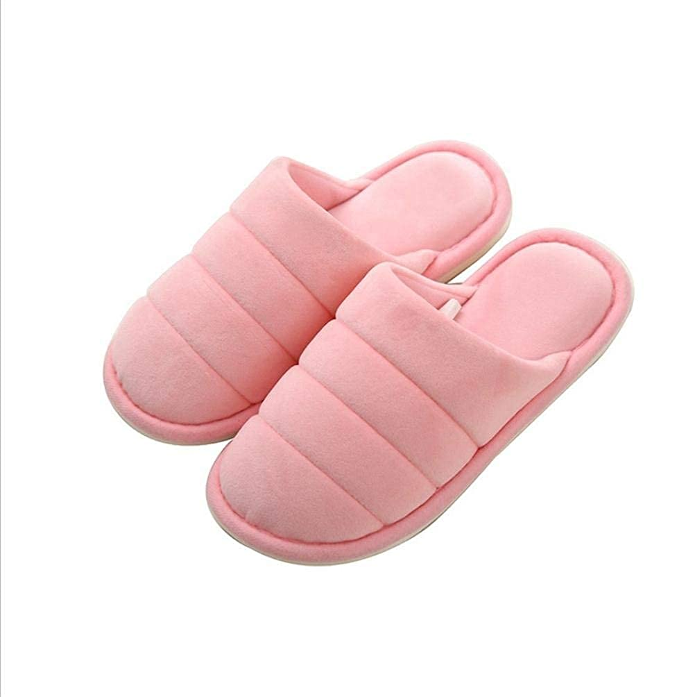 Light powder Lady Slippers Ladies Home Non-Slip Breathable Super Soft Slippers Autumn and Winter Indoor and Outdoor Solid color Classic Basic Cotton Slippers