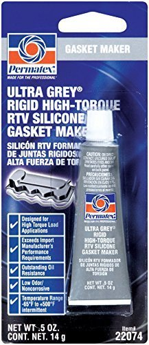 Permatex 22074 Ultra Grey Rigid High-Torque RTV Silicone Gasket Maker, 0.5 oz. Size: 0.5 Ounce Model: 22074 Car/Vehicle Accessories/Parts