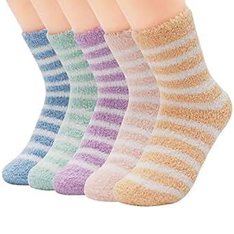 Zando Women Girls Fuzzy Warm Slipper Sock Super Soft