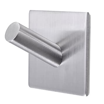 interesting wall cloth hanger. Bathroom Towel Hooks 3M Self Adhesive Wall Heavy Duty Stainless Steel Coat  Hanger Amazon com