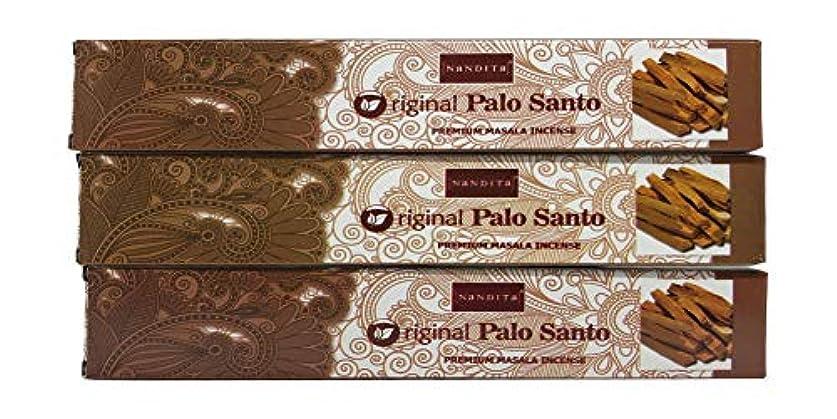 不利ピンポイント集中的なNandita オリジナル PALO Santo プレミアム マサラ香スティック 3本パック (各15グラム)