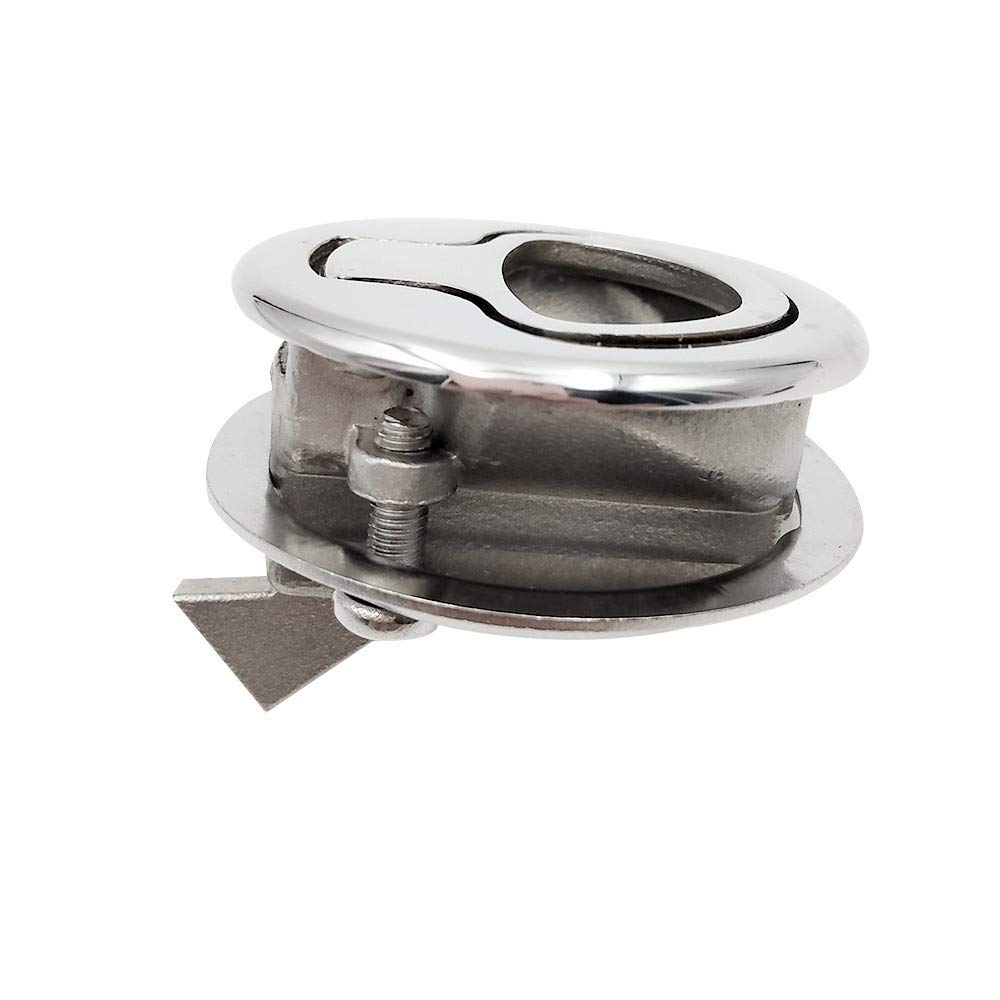 0.19//0.35 Panel Thickness Non-Locking Bright 316 M1 Latch Stainless Steel 316 Flush Pull Push-to-Close Latch