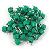 Sonline 30pF Plastic Green Case Adjustable Trimmer Capacitors 50 Pcs