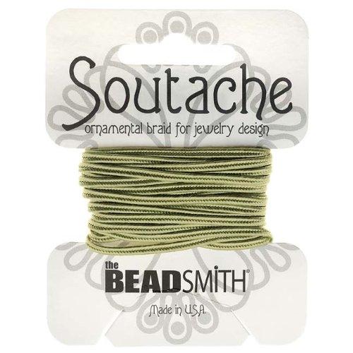 BeadSmith Soutache Braided Cord 3mm Wide - Celery Green (3 Yard (Soutache Braid)
