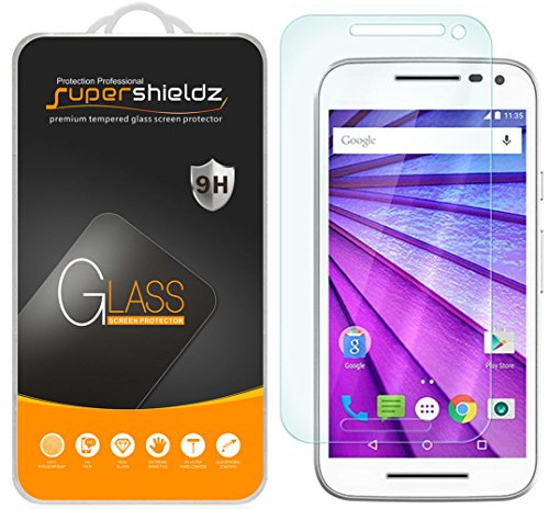 Supershieldz (2 Pack) for Motorola Moto G (3rd Generation) Tempered Glass Screen Protector, Anti Scratch, Bubble Free