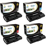 Catch Supplies 4 Pack Replacement Toner Cartridge Set for the Oki C3400 series (1 Black 43459304, 1 Cyan 43459303, 1 Magenta 43459302, and 1 Yellow 43459301) compatible with the Okidata C3300, C3400