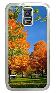 Autumn in the park Custom Samsung Galaxy S5/Samsung S5 Case Cover Polycarbonate Transparent