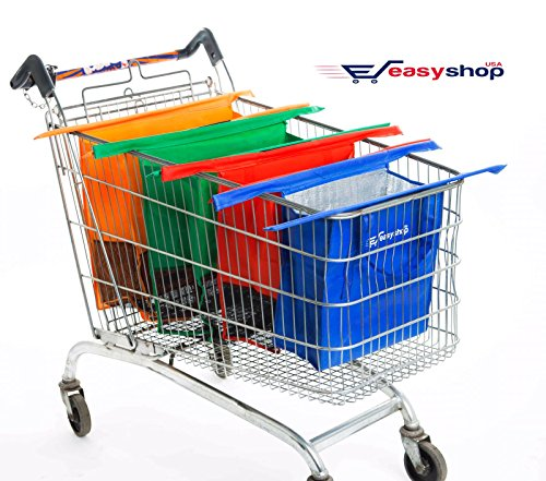 Check Cart - Easy Shop USA - Reusable Shopping Cart Trolley Bags –Compact – Foldable-Sturdy And Eco-Friendly – Easily Organize Groceries And Make Checkout A Breeze - FREE BONUS EBOOK WITH EVERY ORDER.