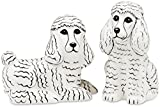 Rescue Me Now White Poodle Salt and Pepper Shaker Set