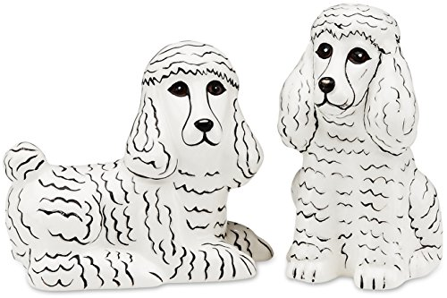 Rescue Me Now White Poodle Salt and Pepper Shaker Set by Rescue Me Now