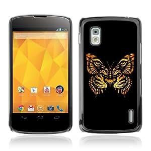 YOYOSHOP [Beautiful Tiger Butterfly Art] LG Google Nexus 4 Case