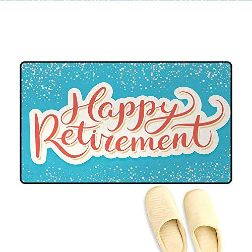 Door-mat,Happy Retirement Banner Design Hand Lettering for sale  Delivered anywhere in Canada
