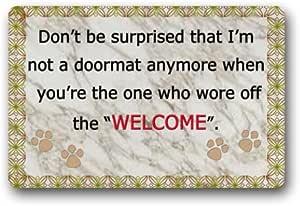 Preti Custom Durable Indoors & Outdoors Doormat Door Mat with Quotes,Style Unique