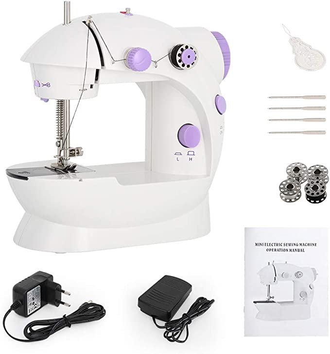 Adjustable 2-Speed with Foot Pedal for Kids Blue Sewing Made Easy ...