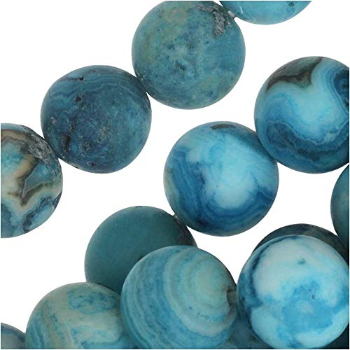 - Dakota Stones Gemstone Beads, Blue Crazy Lace Agate, Matte Round 8mm, 8 Inch Strand