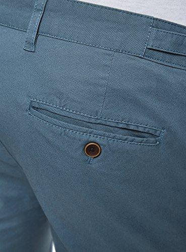 Coton Avec 7500n Chino Ceinture Bleu En Oodji Réglable Ultra Homme Pantalon qvYxwYXgO