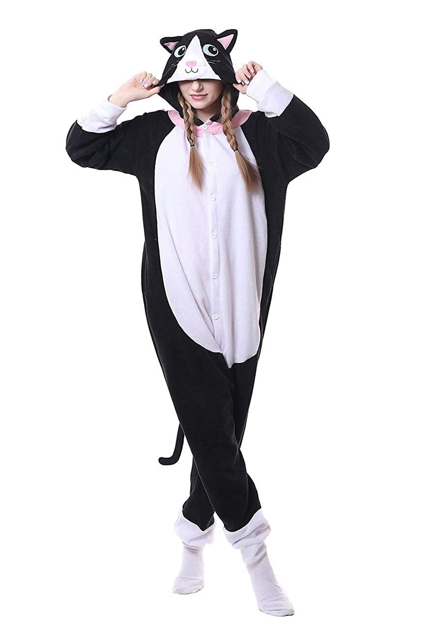 Honeystore Funny Animal Pjs One Piece Halloween Cosplay Costume Pajama Sleepwear H1808B7