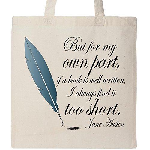 Inktastic Jane Austen Citations de livre Borsa Naturale By