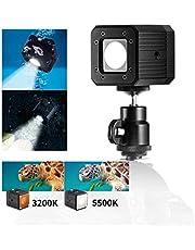 TARION TR-LX02 8W LED Video Licht 5500K/3200K Taschenlampe 2400LUX Unterwasser Licht Tauchen Lampe 20 Meter mit 4 Lichtmodi für DSLR, Smartphone, Gopro oder Wandern und Campen