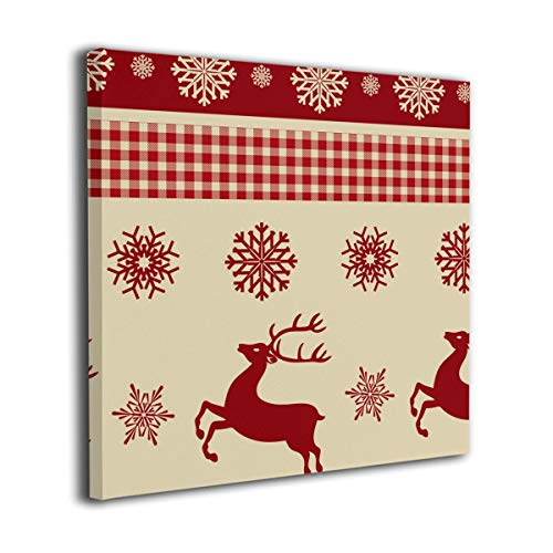 WONDER 4 Christmas Deer Modern Wall Decor/Home Decor Canvas Wall Art Stretched and Ready to Hang