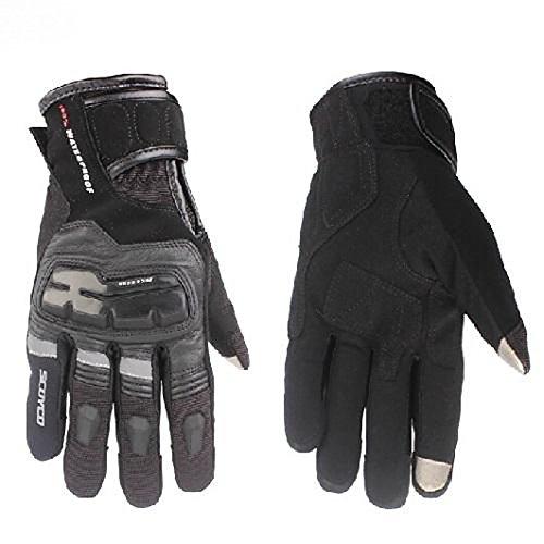 UXOXAS Winter Warm Windproof 100% Waterproof Protective Full Finger Racing cling Bike Glove Motorcle Gloves, black&blue-xxl, black&blue-xxl