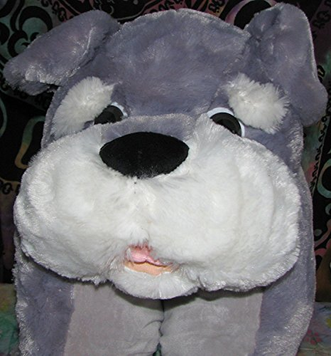 "28"" Animal Pillow Chum Schnauzer Dog, - 51WgDccBg7L - 28″ Animal Pillow Chum Schnauzer Dog,"
