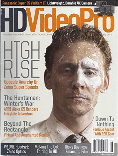 HD Video Pro (June 2016 - Cover: Tom Hiddleston as Dr. Robert Laing in High-Rise)