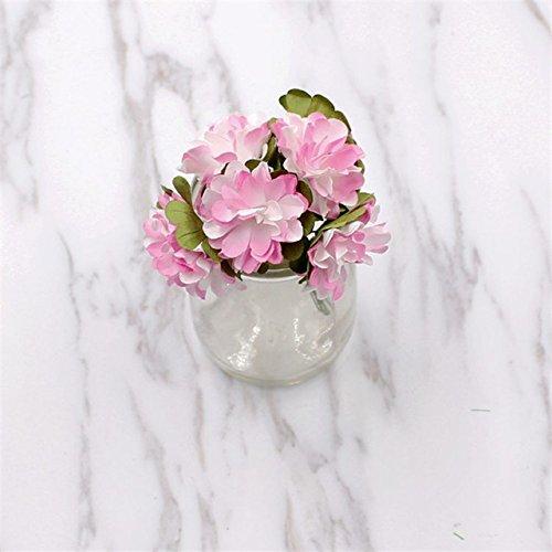 ShineBear 12pcs/ lot A lot Miniature Paper Chrysanthemum Artificial Daisy Flowers Silk Wedding Bouquet of The DIY Scrapbook Fak - (Color: Pink)