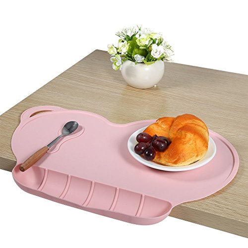 Silicone Placemats Kids Feeding Mat Portable With