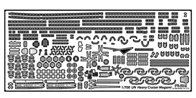 Photo-Etched Parts for IJN Aircraft Carrier Mogami (Plastic model)