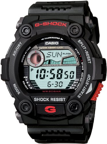 Casio Men's G7900-1 G-Shock Rescue Digital Sport Black Resin Watch ()