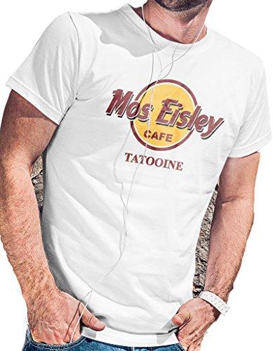 LeRage Shirts Star Wars Mos Eisley Cafe Tatooine T-Shirt Men's White 2XL]()