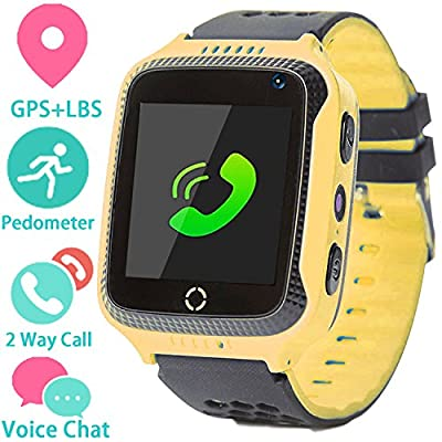 Kids Smart Watch Phone for Girls Boys with GPS Locator Pedometer Fitness Tracker Touch Camera Games Light Touch Anti Lost Alarm Clock Smart Watch Bracelet