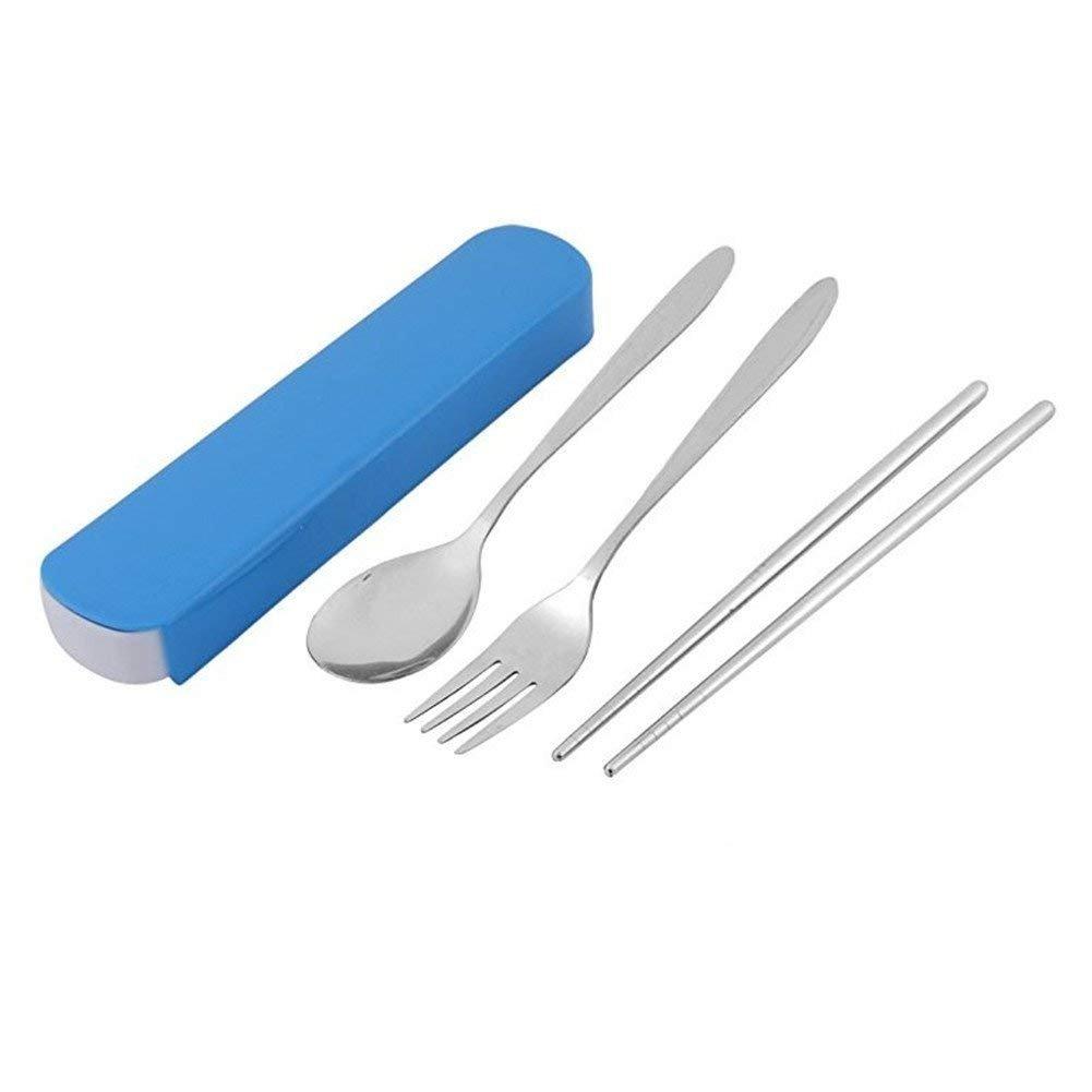 Lameida environnement Portable Vaisselle en acier inoxydable de voyage Student Boîte à couverts Fourchette Cuillère Baguettes