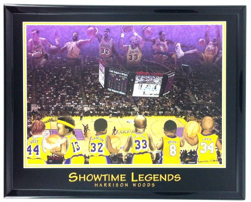 Poster Los Angeles Lakers Basketball - NBA Basketball Los Angeles Lakers Legends Print Framed F6608A