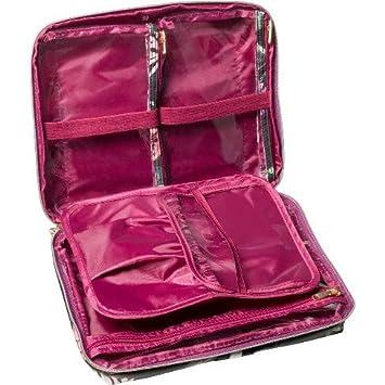 e8fa54777dc4 Amazon.com  Sonia Kashuk Cosmetic Bag Beauty Organizer Dark Floral with  Webbing Black  Beauty