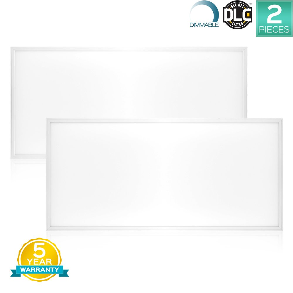 Luxrite Led Light Panel 2x4 Ft 72w 5000k Bright White 7900 Lumens 24x48 Inch Flat Dimmable Dlc Listed Ul Pack Of 2 Com