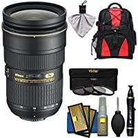 Nikon 24-70mm f/2.8G AF-S ED Zoom-Nikkor Lens with Backpack + 3 Filters + Kit for D3200, D3300, D5300, D5500, D7100, D7200, D750, D810 Cameras
