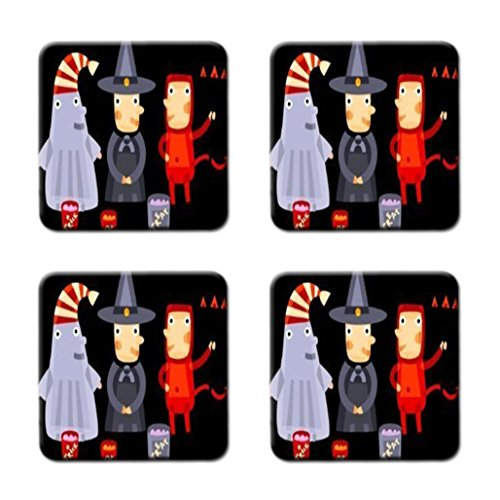 Please Take One Halloween Candy Custom High Quality Square Coasters Cup Mat Stylish, durable Cork Pad Antiskid Mat Stain Resistance - New Design By Keasu ()