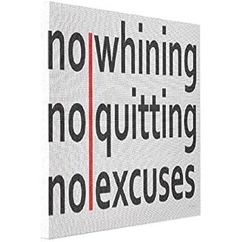 Amazon.com: wonbye Custom Canvas Print No Whining No