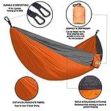 Double Camping Hammock Lightweight Parachute Nylon