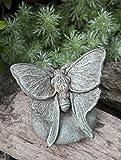 Campania International A-395-AL Lunar Moth Statue, Aged Limestone Finish