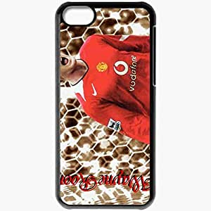 Personalized iPhone 5C Cell phone Case/Cover Skin Asdfioh English Premier League 0910 The FA Wayne Rooney Manchester United Football Black
