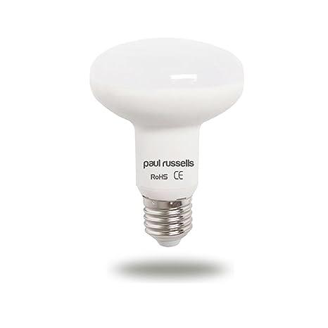 Paul Russells - Pack de 3 bombillas LED reflectoras de 12 W E27 ES Edison con rosca brillante de 12 W=100 W Foco R80 foco luz 270 luz de haz 2700 K ...