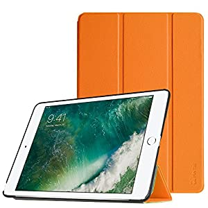 """Fintie iPad 9.7 Inch 2017 Case - Lightweight Slim Shell Standing Cover with Auto Wake / Sleep Feature for Apple iPad 9.7"""" 2017 Release Tablet, Orange"""