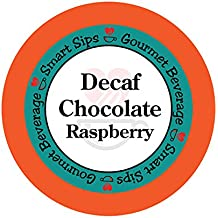 Smart Sips, Decaf Chocolate Raspberry Flavored Coffee, 24 Count for All Keurig K-cup Machines, Decaffeinated Flavored Coffee