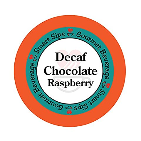 Smart Sips, Decaf Chocolate Raspberry Flavored Coffee, 24 Count for All Keurig K-cup Machines, Decaffeinated Flavored - Fall Assorted Chocolates